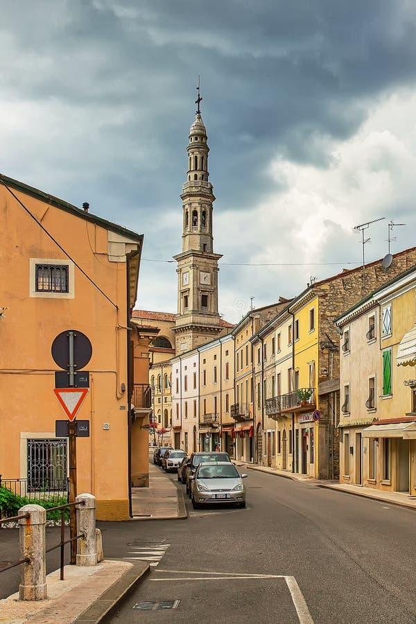 Via Vittorio Veneto, Udine stock photo. Image of bike ...
