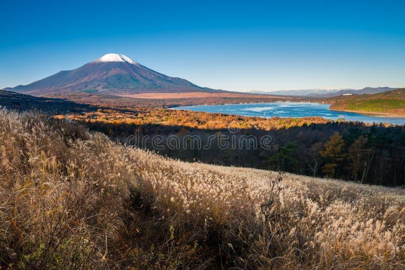 Monte Fuji e lago Yamanaka fotografia de stock royalty free
