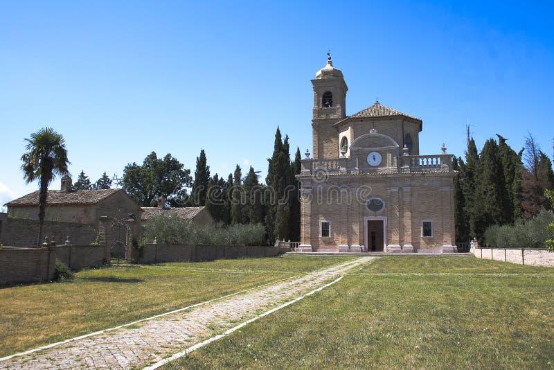 Monte Giove Hermitage Fano - en Italie photos stock