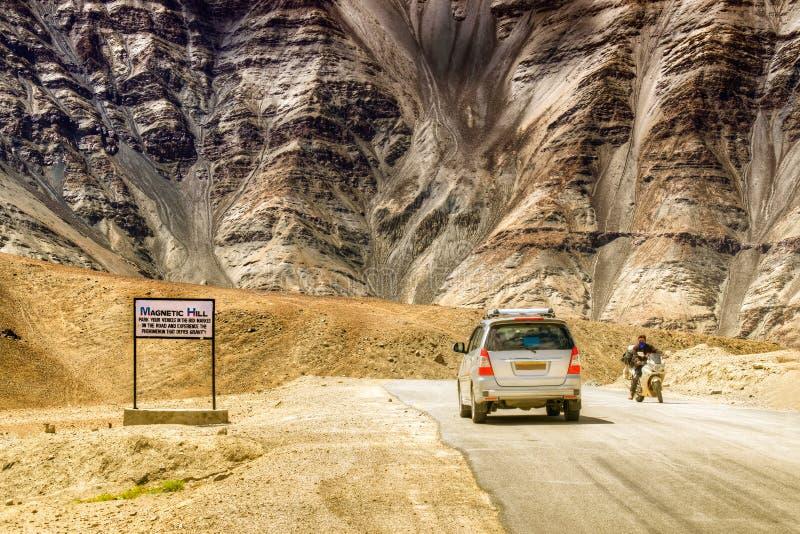 Monte magnético, uma maravilha natural em Leh, Ladakh, Jammu e Caxemira, Índia imagem de stock royalty free