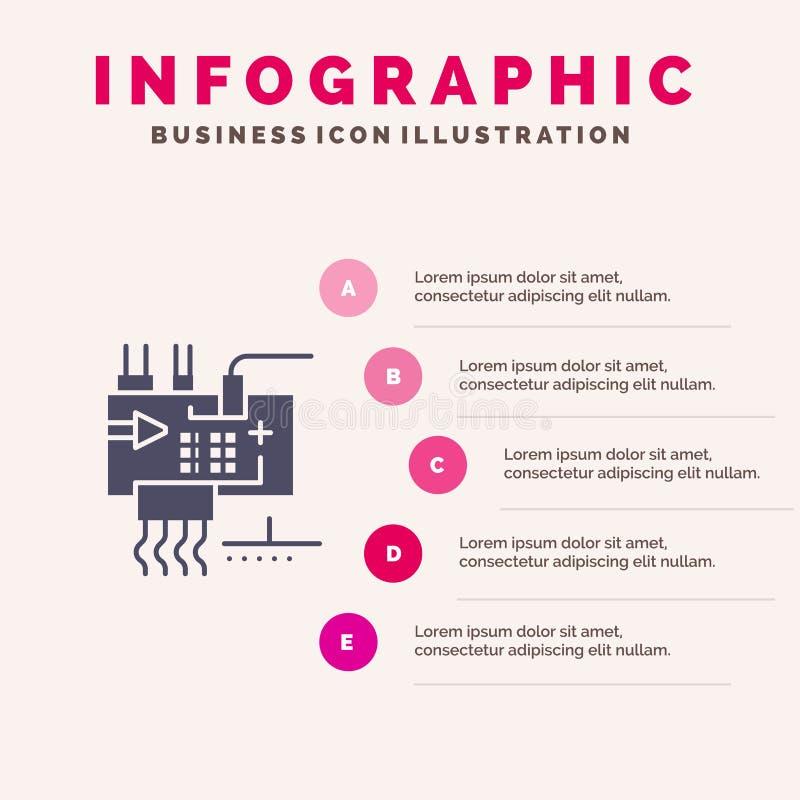 Monte, modifique para requisitos particulares, electrónica, ingeniería, fondo sólido de la presentación de los pasos de Infograph libre illustration
