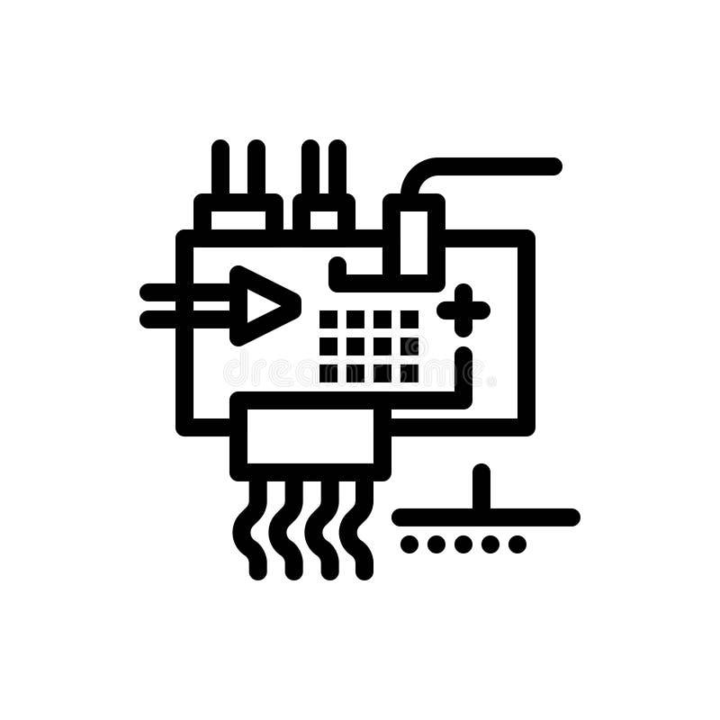 Monte, modifique para requisitos particulares, electrónica, ingeniería, las piezas azules y transferencia directa roja y ahora co ilustración del vector