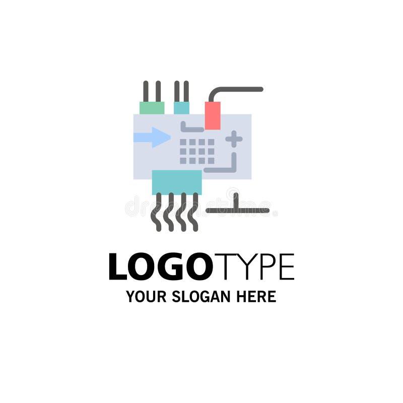 Monte, modifique para requisitos particulares, electrónica, ingeniería, negocio Logo Template de las piezas color plano libre illustration