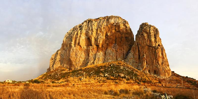 Monte Monaco in San Vito lo Capo. Monte Monaco rock in San Vito lo Capo, Sicily, Italy royalty free stock photo