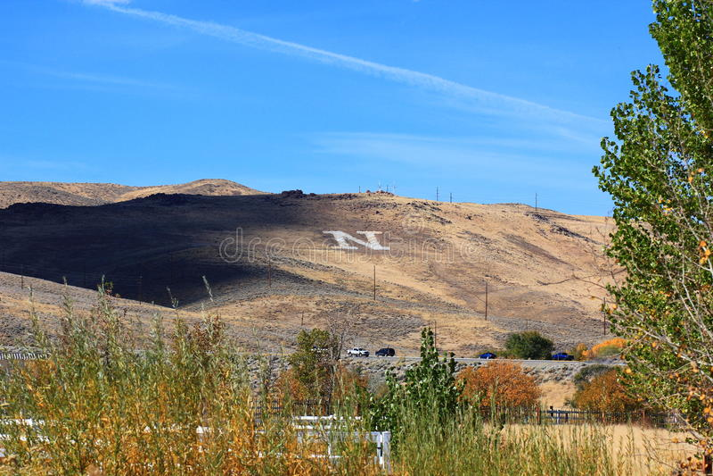 Monte Monogrammed em Reno Nevada foto de stock