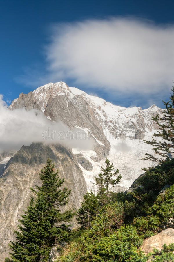 monte mont blanc bianco стоковая фотография