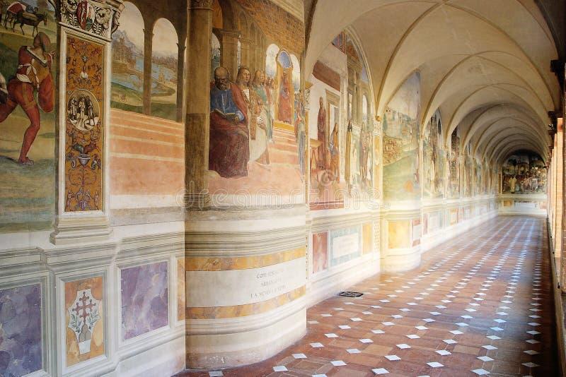 Monte Oliveto abbey stock image