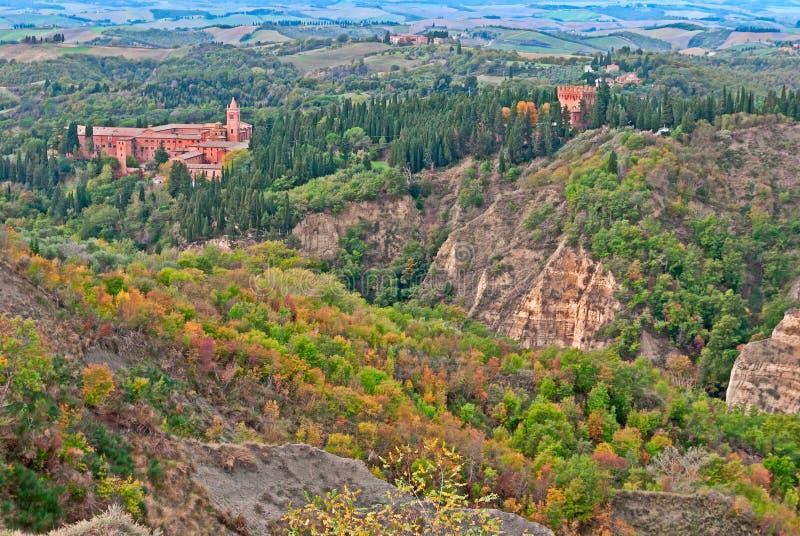 Monte Oliveto Maggiore,托斯卡纳修道院  库存图片