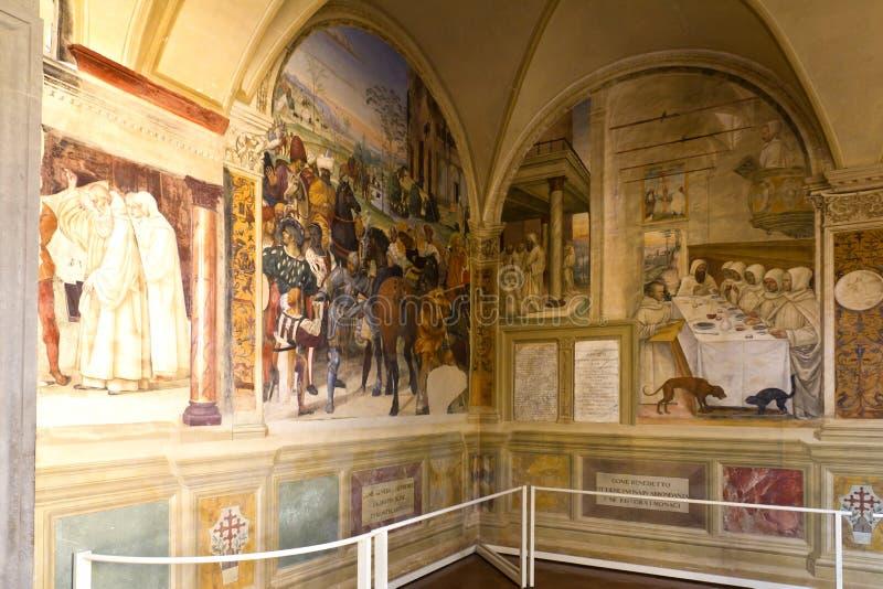 Monte Oliveto Maggiore royalty-vrije stock foto's