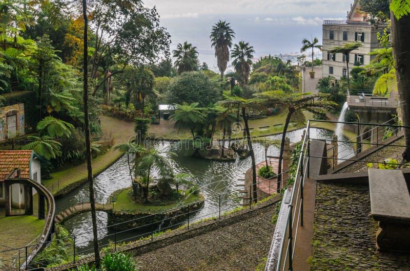 Monte Palace Gardens stock foto's
