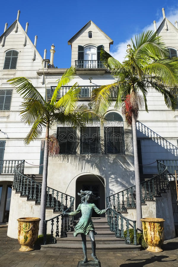 Monte Palace, jardins botânicos de Madeira fotografia de stock