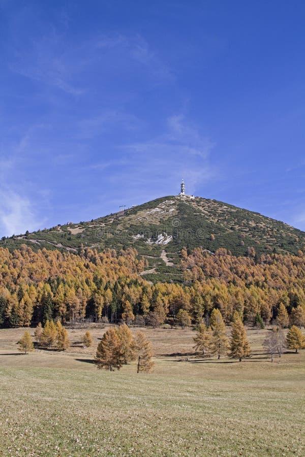 Monte Palon en otoño imagenes de archivo