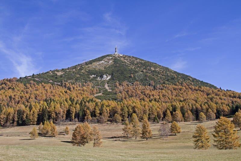 Monte Palon en otoño imagen de archivo