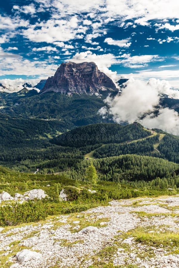 Monte Pelmo - dolomity, Włochy, Europa zdjęcie royalty free