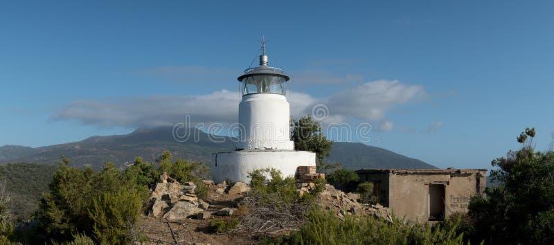 Monte Poro Lighthouse near Marina di Campo on the island Elba royalty free stock photo