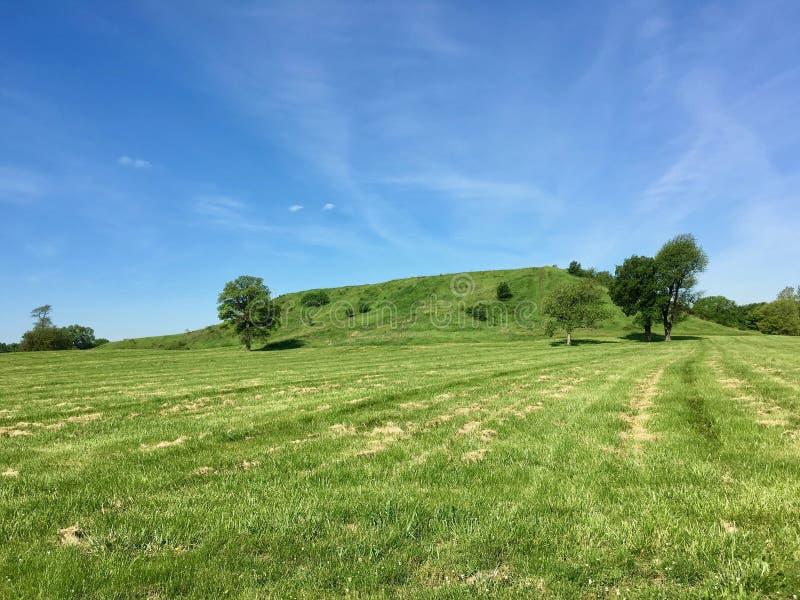 Monte principal de Cahokia de uma distância fotos de stock