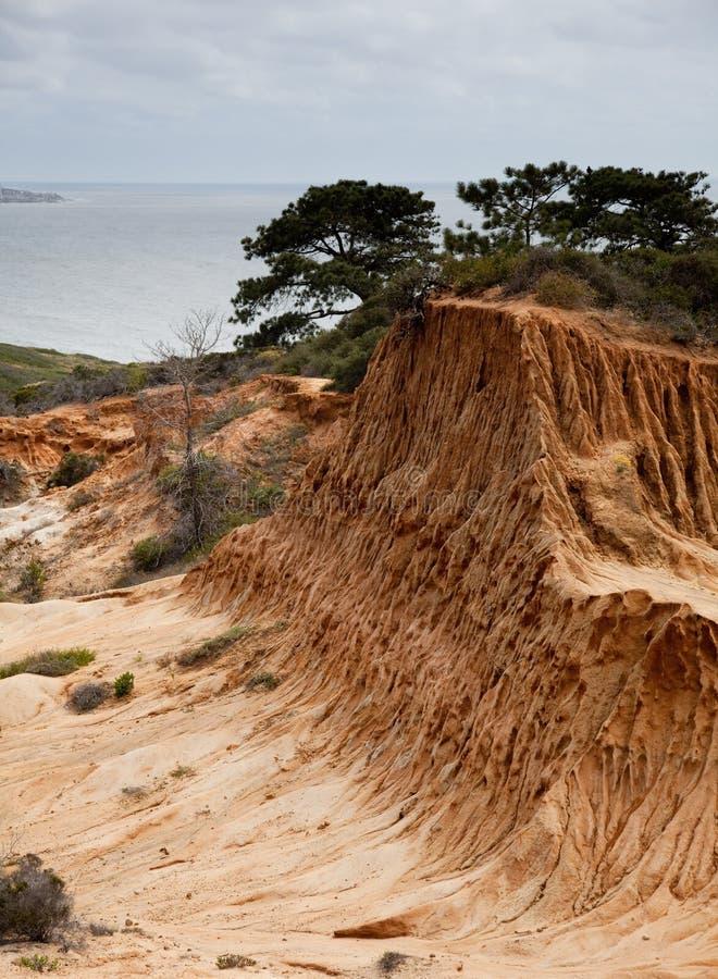 Monte quebrado no parque de estado dos pinhos de Torrey foto de stock