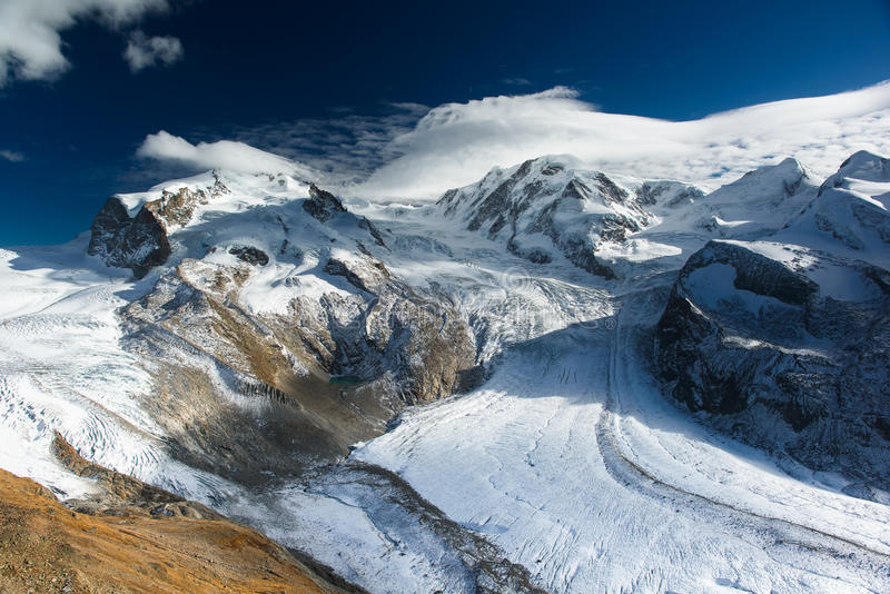 Download Monte Rosa and Lyskamm stock photo. Image of landmark - 28682958