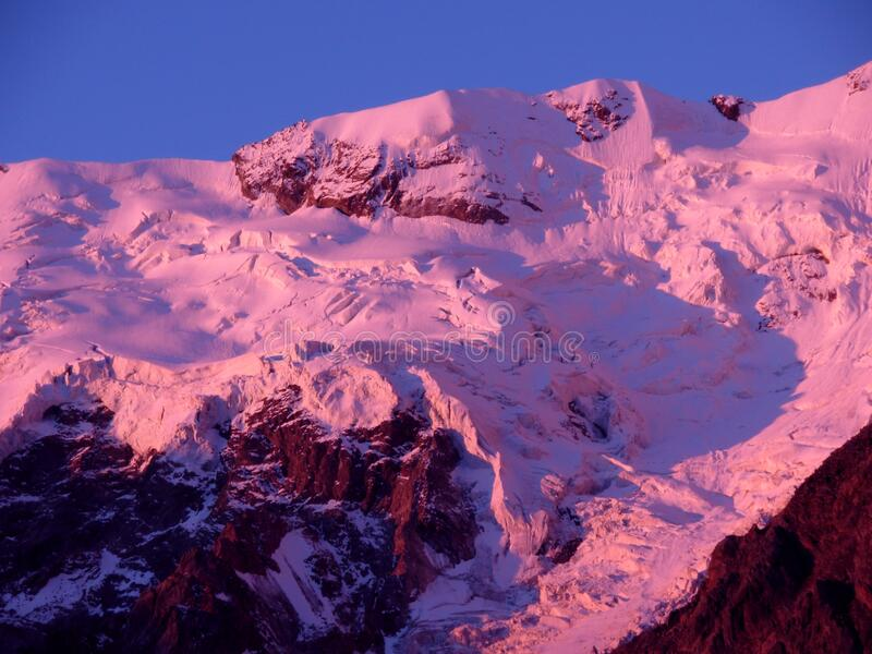 Monte Rosa Mountain royalty-vrije stock afbeeldingen