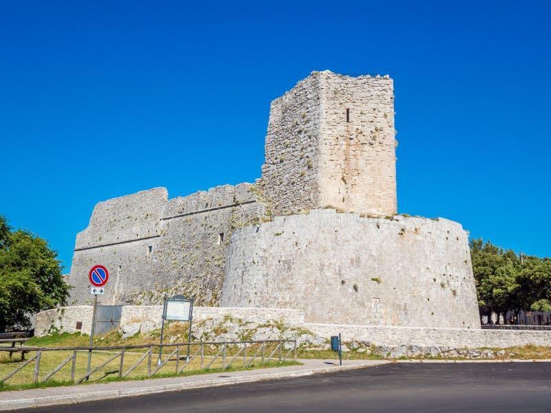 Monte Sant Angelo, регион Apulia, святилище Архангела Италии, известное за St Michael стоковая фотография