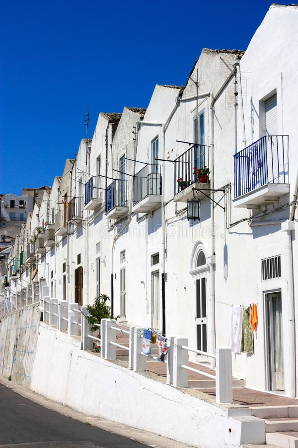 Monte Sant'Angelo, Apulia, Italy royalty free stock images