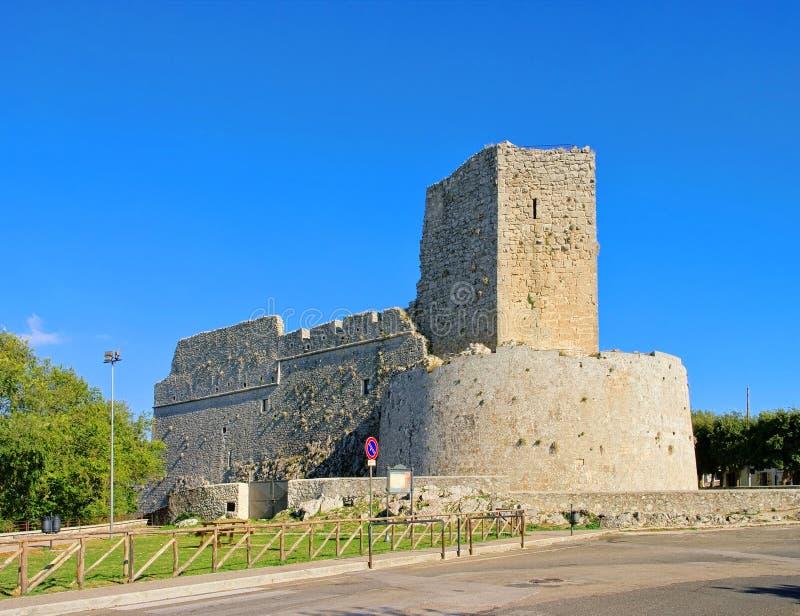 Monte Sant Angelo Castello photos libres de droits
