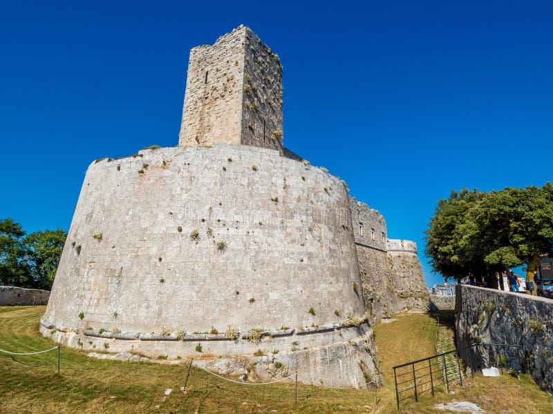 Monte Sant Angelo, región de Apulia, Italia, conocida para el santo Michael Archangel Sanctuary fotografía de archivo