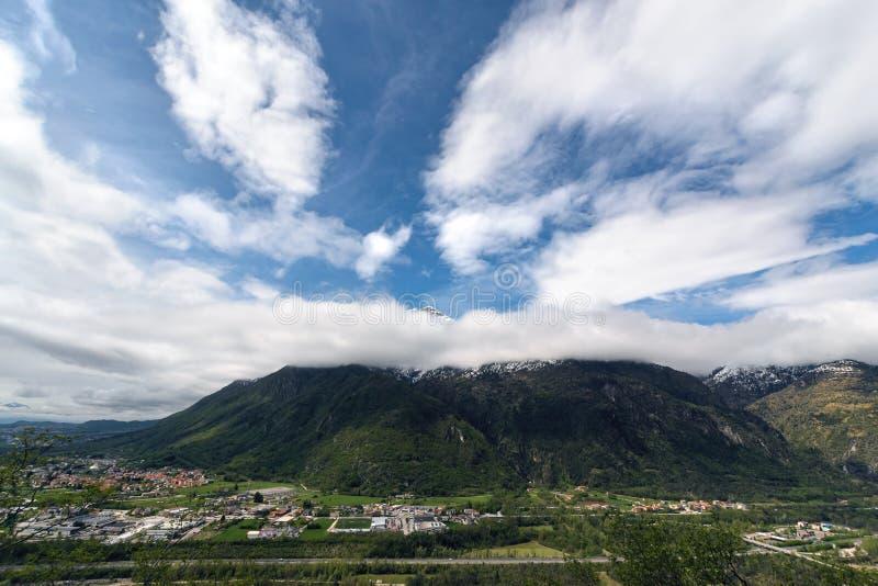 Monte Serva góra w Alps blisko Belluno obrazy royalty free