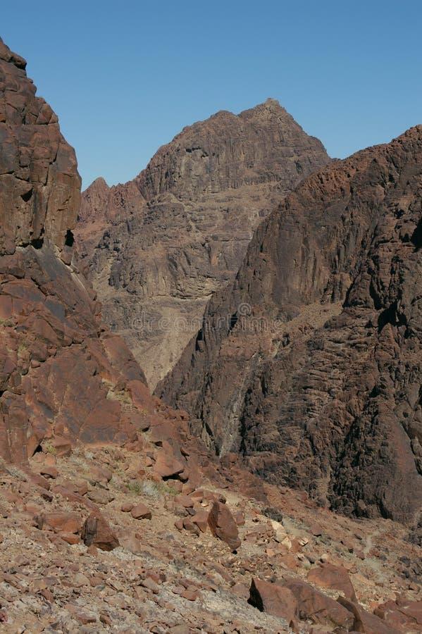 Monte Sinaí foto de archivo libre de regalías