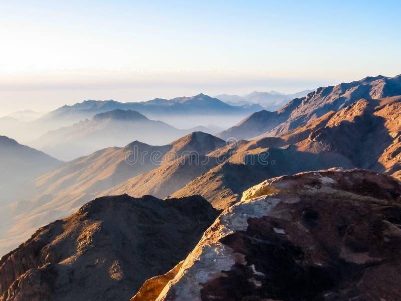 Monte Sinai Egitto fotografia stock libera da diritti