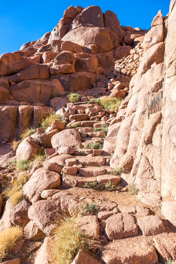 Monte Sinai, supporto Mosè nell'Egitto immagini stock