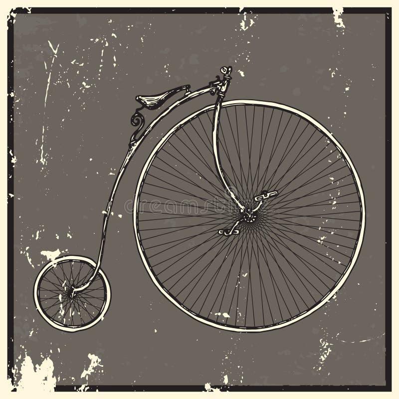 Monte su imagen de la bici ilustración del vector