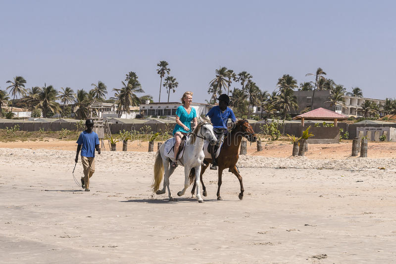Monte sur la plage images libres de droits