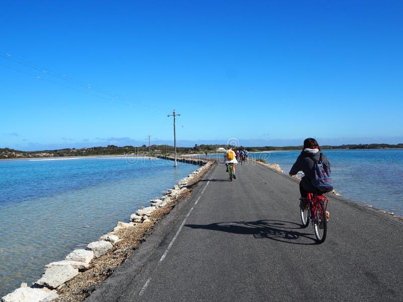 Monte uma bicicleta na ilha de Rottnest imagens de stock royalty free