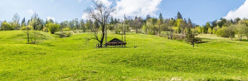 Monte verde do país Panorama largo fotos de stock royalty free
