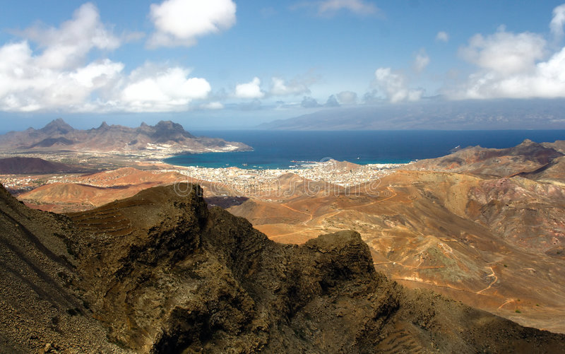 Monte Verde on Sao Vicente, Cape Verde islands stock images