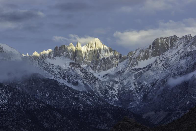 Monte Whitney, o maior pico nos Estados Unidos contíguos fotos de stock royalty free