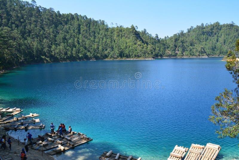 Montebello jeziora w Chiapas Meksyk fotografia royalty free