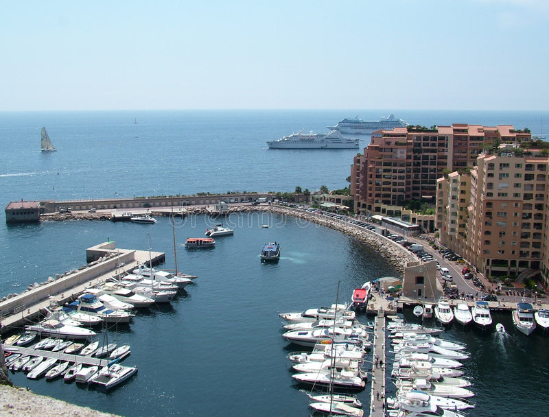 Montecarlo harbour. Boats in the harbour in Montecarlo - Monaco royalty free stock images