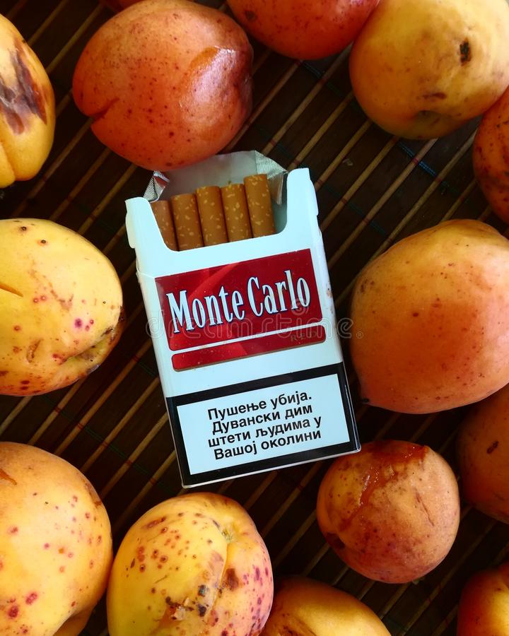 montecarlo in the peaches stock image