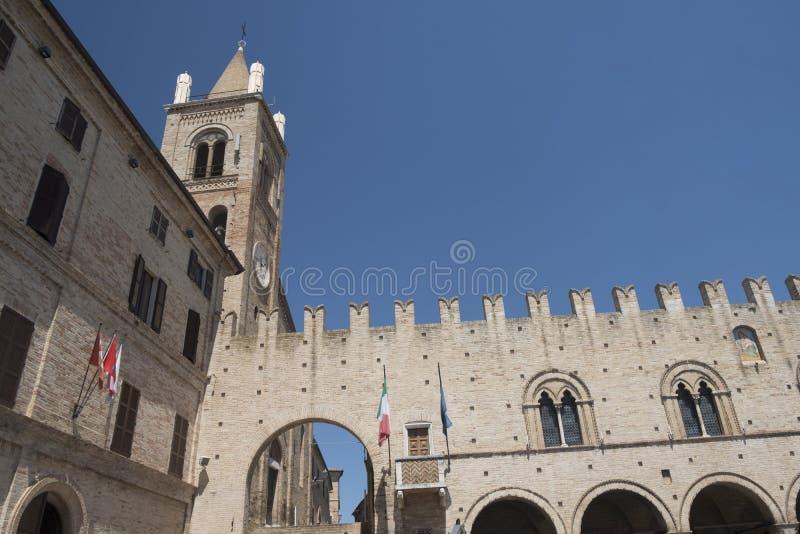 Montecassiano Macerata, marzos, Italia, ciudad histórica imágenes de archivo libres de regalías