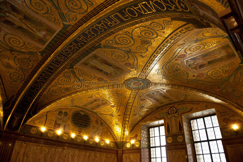 Montecassino Abbey royalty free stock photos
