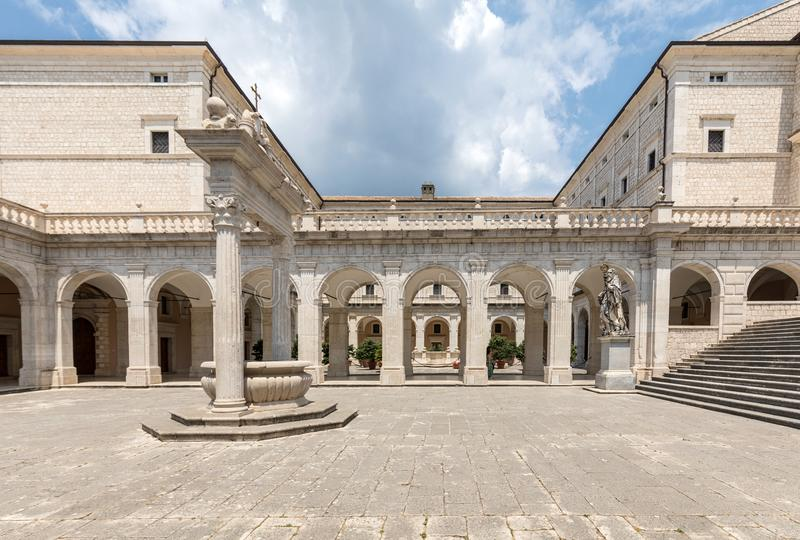 Cistern in the Cloister of Bramante, Benedictine abbey of Montecassino. Italy stock photo