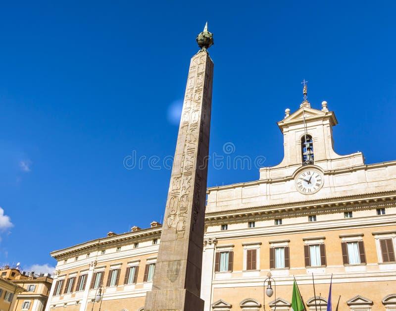 Montecitorio en Roma fotografía de archivo libre de regalías
