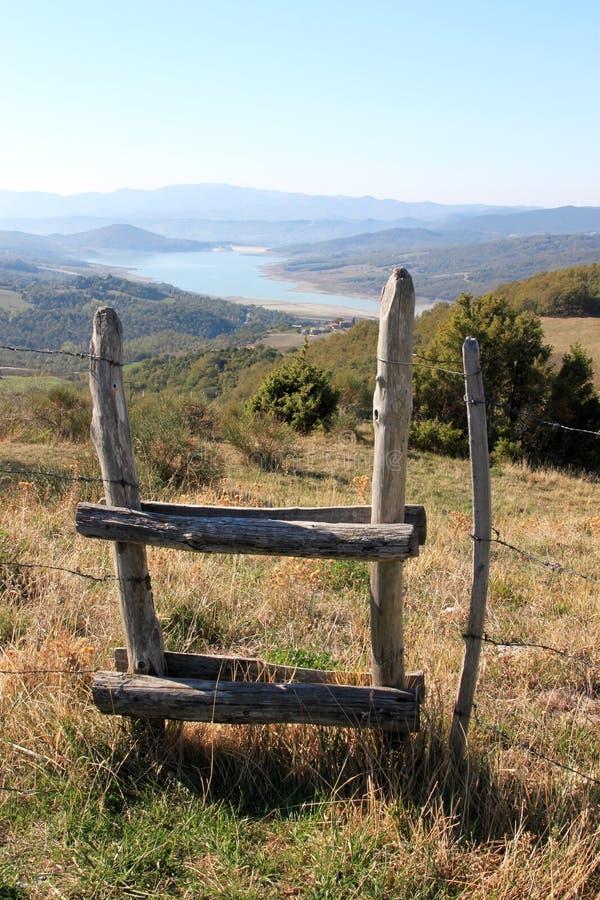 Montedoglio Lake, Tuscany, Italy royalty free stock photos