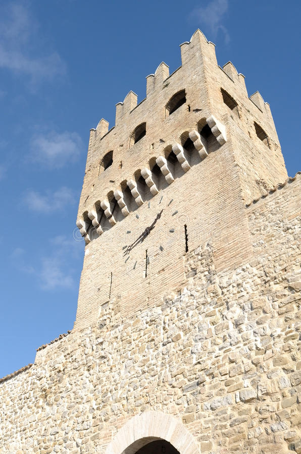 Montefalco i Italien royaltyfria foton