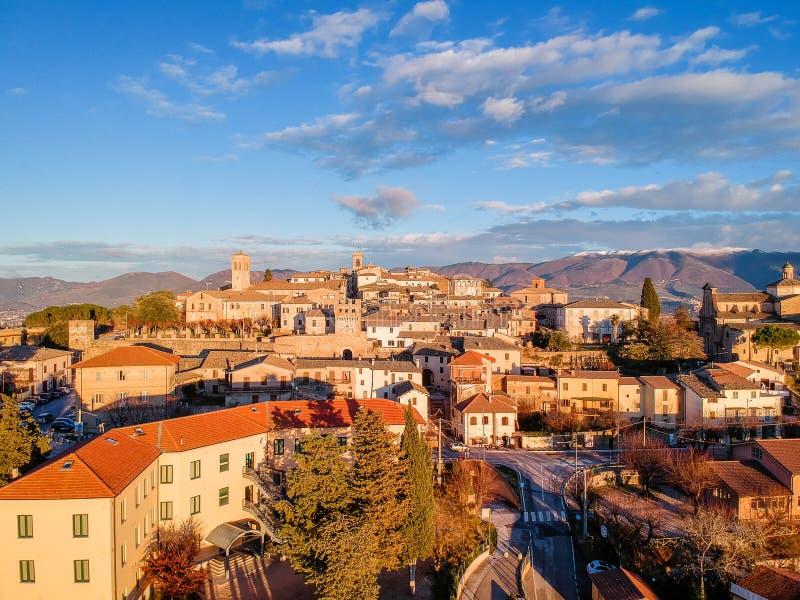 Montefalco Umbria, Italien royaltyfria foton