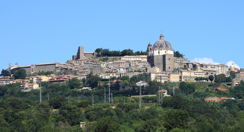 Montefiascone panoramiczny widok zdjęcia stock
