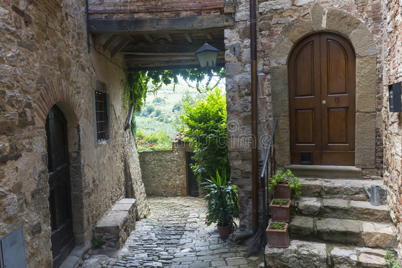 Montefioralle (Chianti, Toscânia) imagens de stock
