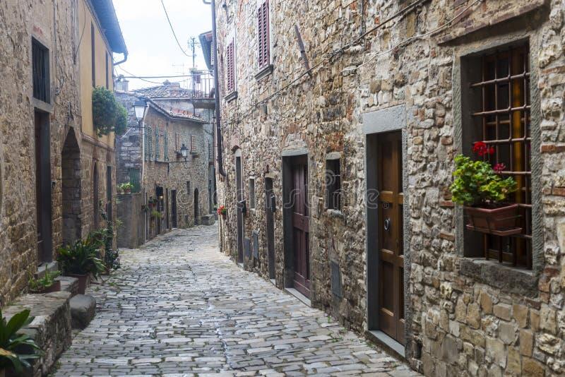 Montefioralle (Chianti, Toscana) immagini stock